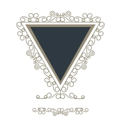 Triangle decorative vintage frame icon vector