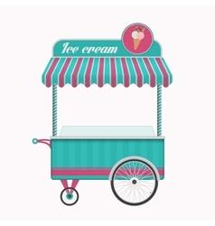 Vintage ice cream cart bus vector image