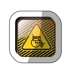 Handicap road sign vector image