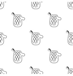Oven glove icon in black style isolated on white vector