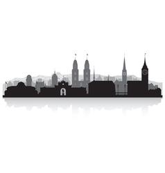 Zurich switzerland city skyline silhouette vector