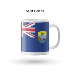 Saint helena flag souvenir mug on white background vector