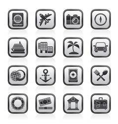 Tourism and Travel Icons vector image