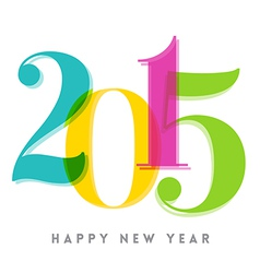 2015 happy new year number vector