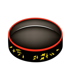 Beautiful sushioke or round sushi serving platter vector