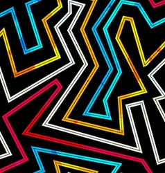 neon stripes seamless pattern vector image