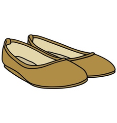 Golden flats vector
