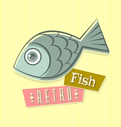 Retro fish vector
