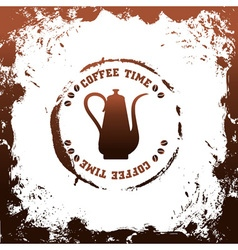 Coffee time template vector