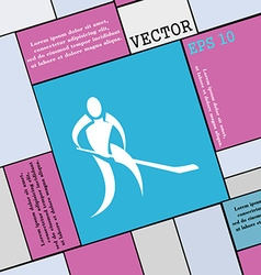 Winter sport hockey icon sign modern flat style vector