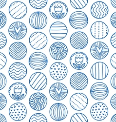 Abstract circles doodle pattern vector