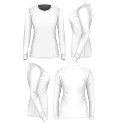 Women t-shirt long sleeve vector