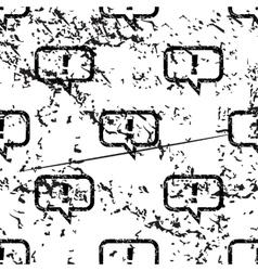 Answer message pattern grunge monochrome vector