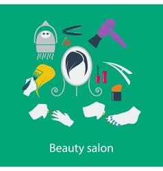 Beauty salon flat design vector image