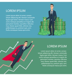 Currency growth cartoon poster banners for your vector