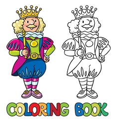 Fairy tale king Coloring book vector image