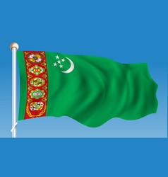 Flag of turkmenistan vector