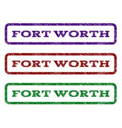 Fort worth watermark stamp vector