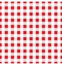 Gingham fabric vector