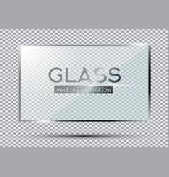 Glass plate isolated on transparent background vector
