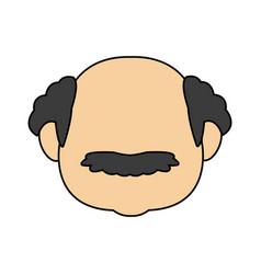Grandfather man family person face vector