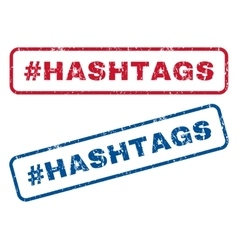 Hashtag Hashtags Rubber Stamps vector image