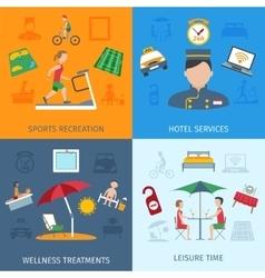 Hotel services set vector