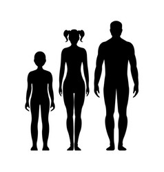 human front side silhouette vector image vector image