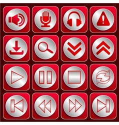 Icon set 2 vector image