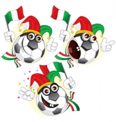 Italian cartoon footballs vector image vector image