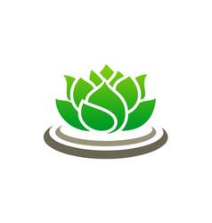 Lotus flower spa logo vector