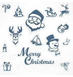 Mary christmas set vector