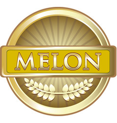 Melon gold label vector
