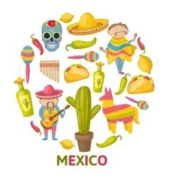 Mexican round composition vector