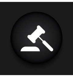 Modern courthouse black circle icon vector