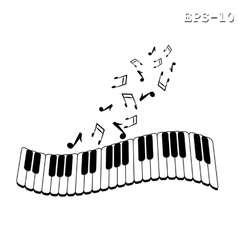 Musical keyboard and note vector