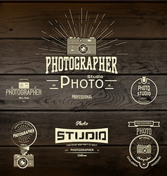 Photography logo badges logos and labels for any vector image