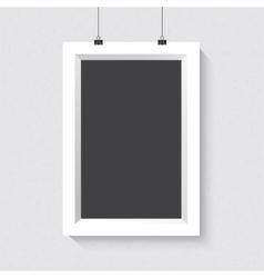 Portrait dark frame mockup realistic vector