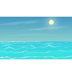 Sea panorama vector