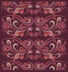 seamless vintage curly pattern vector image vector image
