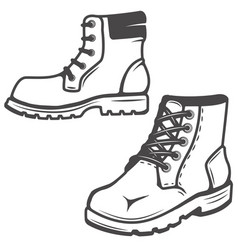 set of the boots icons isolated on white vector image vector image