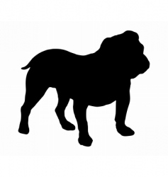 silhouette of an english bulldog vector image vector image