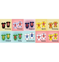 Soccer teams uniforms set vector