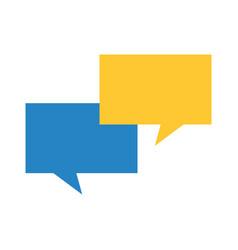 speech bubbles communication dialog message vector image vector image