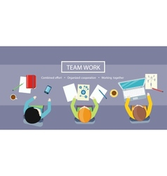 Team work concept business meeting vector