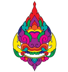 Thai pattern graphic vector image
