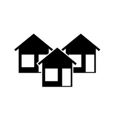 three house vector image vector image