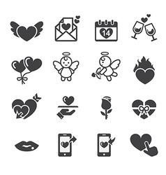 valentine day icon vector image