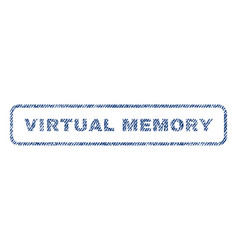 virtual memory textile stamp vector image vector image
