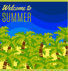 welcome to summer postcard vector image
